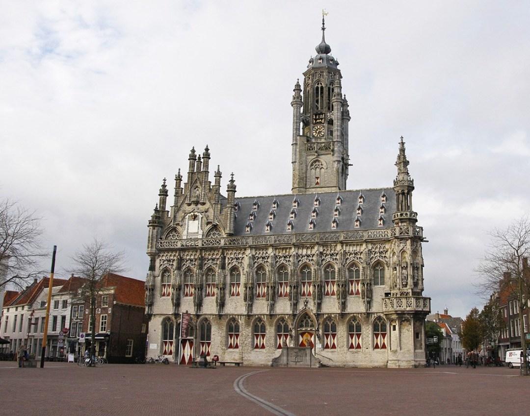 Old city hall in Middelburg, Zeeland