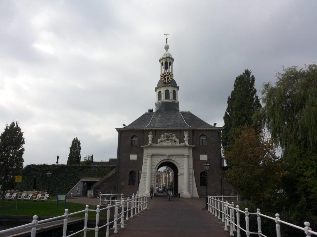 Zijlpoort, one of the historic gates in Leiden