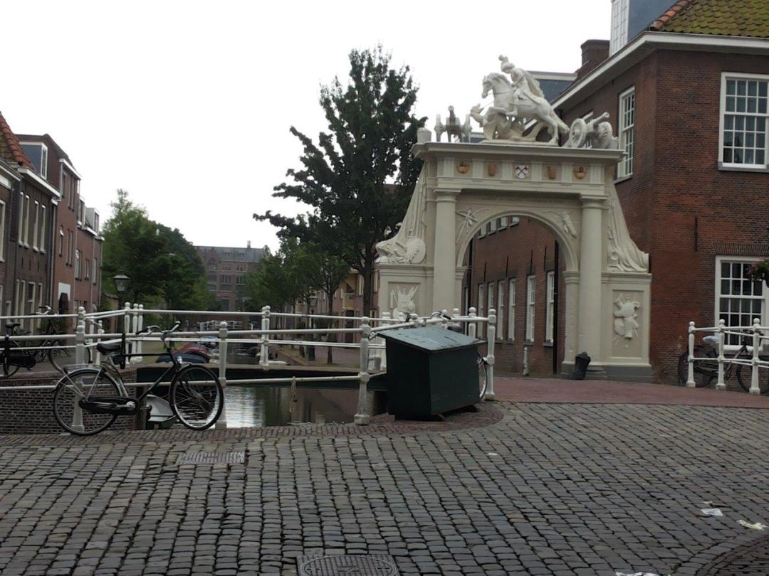 gate next to the old barracks in Leiden