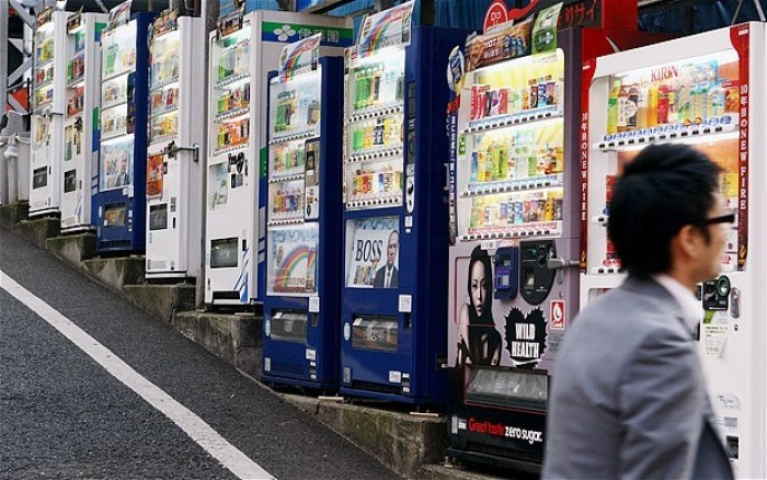 vending machines in Japan - fun facts about Japan