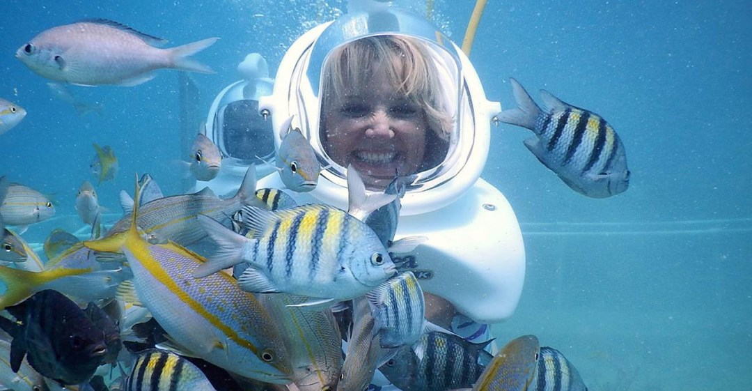 St Maarten Sea Trek helmet diving - Things to do in St Maarten