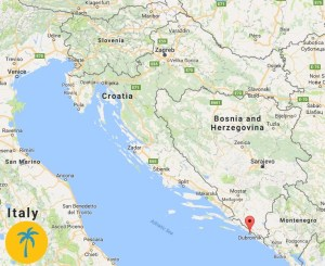 map of Dubrovnik, Croatia - expat life in Dubrovnik