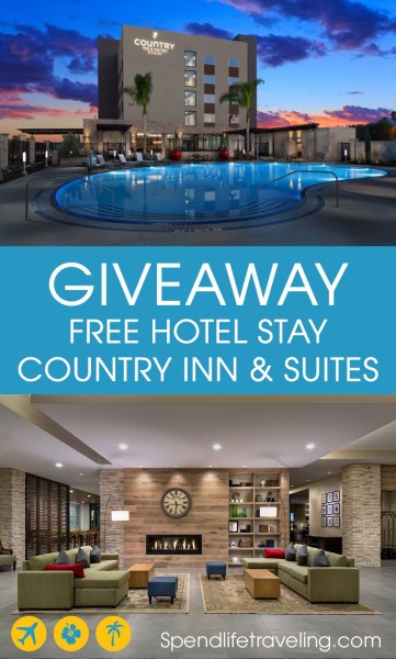 Win a free hotel stay at any of the 470+ Country Inn & Suites hotels