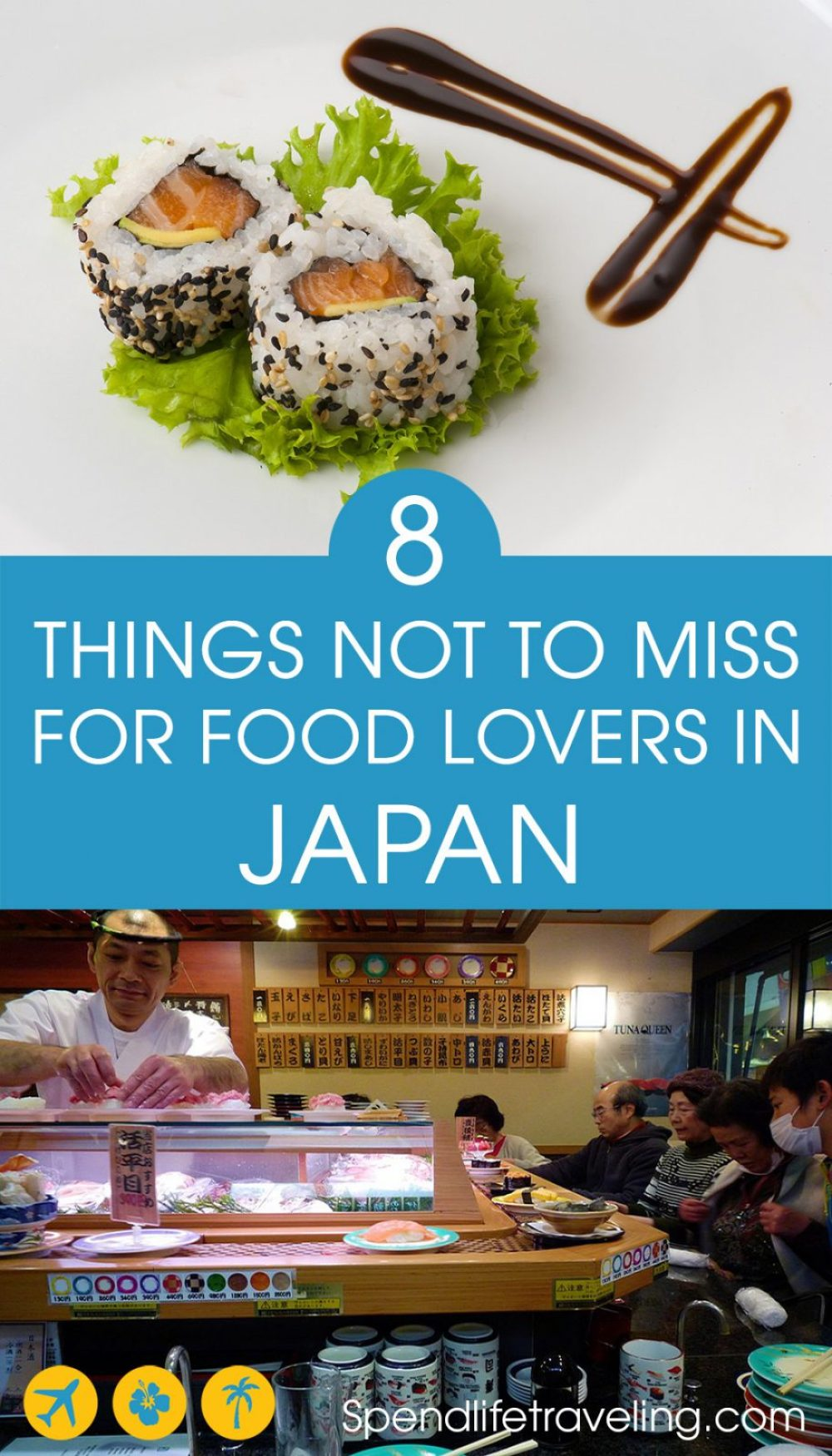 Tips for food lovers traveling to Japan. If you love food, Japan is a great place to visit. Check out what not to miss when it comes to culinary experiences in #Japan. #Japanesefood #foodtravel #foodlovers