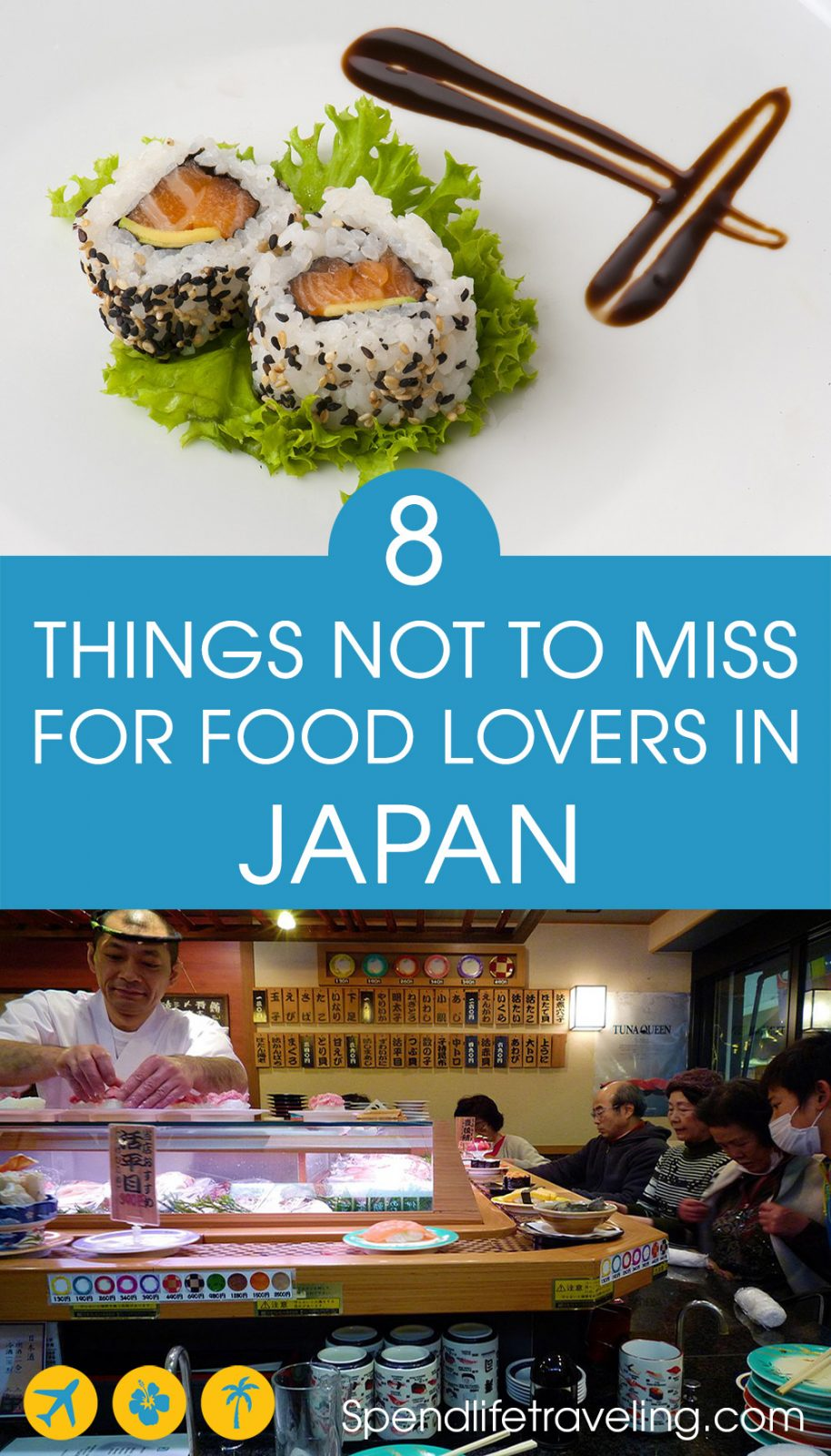 Tips for food lovers traveling to Japan. If you love food, Japan is a great place to visit. Check out what not to miss when it comes to culinary experiences in #Japan. #Japanesefood #foodtravel