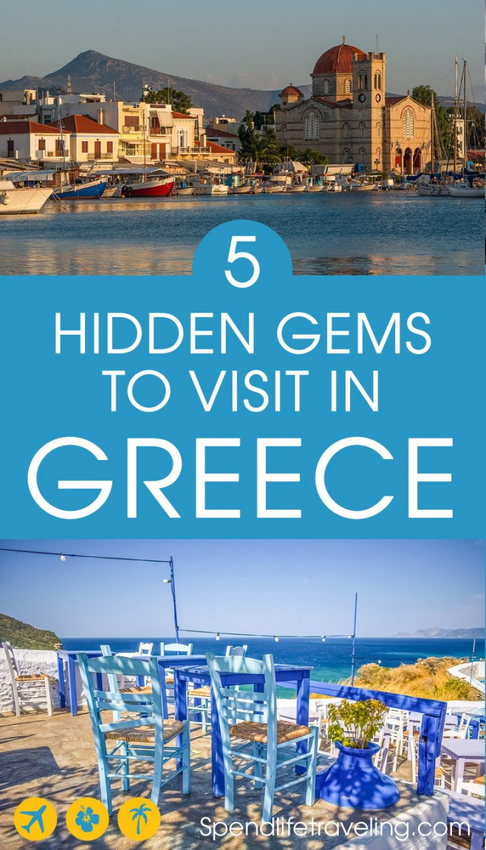 Greece has a lot of beautiful places worth visiting. Check out these 5 hidden gems in #Greece for some great travel inspiration. #visitGreece #travelGreece #Greekislands #greekvacation