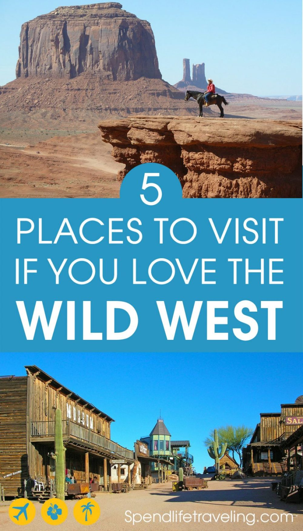 5 Places You Should Visit in The #USA if You Love The Wild West. #wildwest #travelUSA