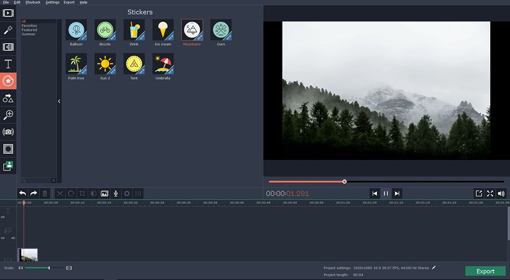 video editing tool to create great travel videos