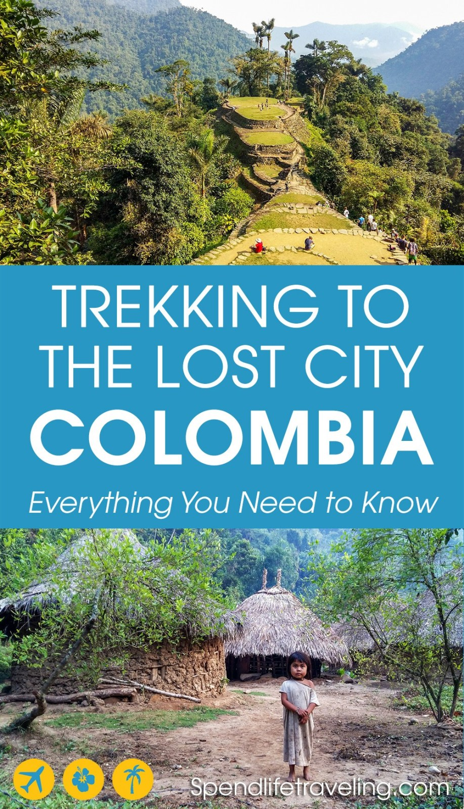 A complete guide to trekking to the Lost City (Ciudad Perdida) in Colombia. Not as many people know about this but it is just as impressive as Machu Picchu! #travelColombia #LostCity #CiudadPerdida #traveltips #trekking