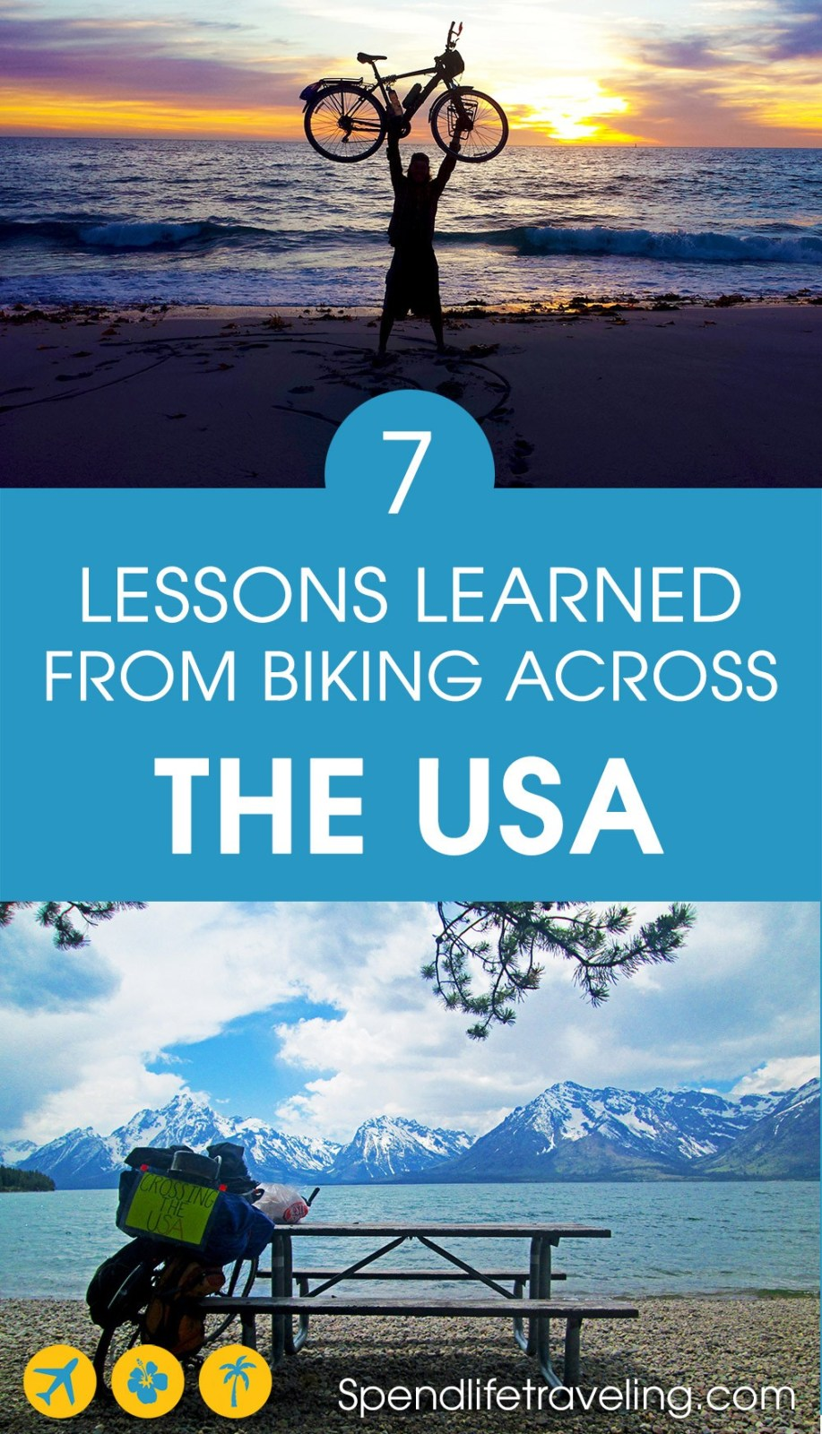 If you have ever thought about going on a long biking trip you want to read this inspiring story! After biking across the USA these are Daniel's tips and lessons learned. His goal: to become the first person to bike across all seven continents. #biking #outdooradventure #bikeacrossAmerica #adventuretravel #traveltheworld