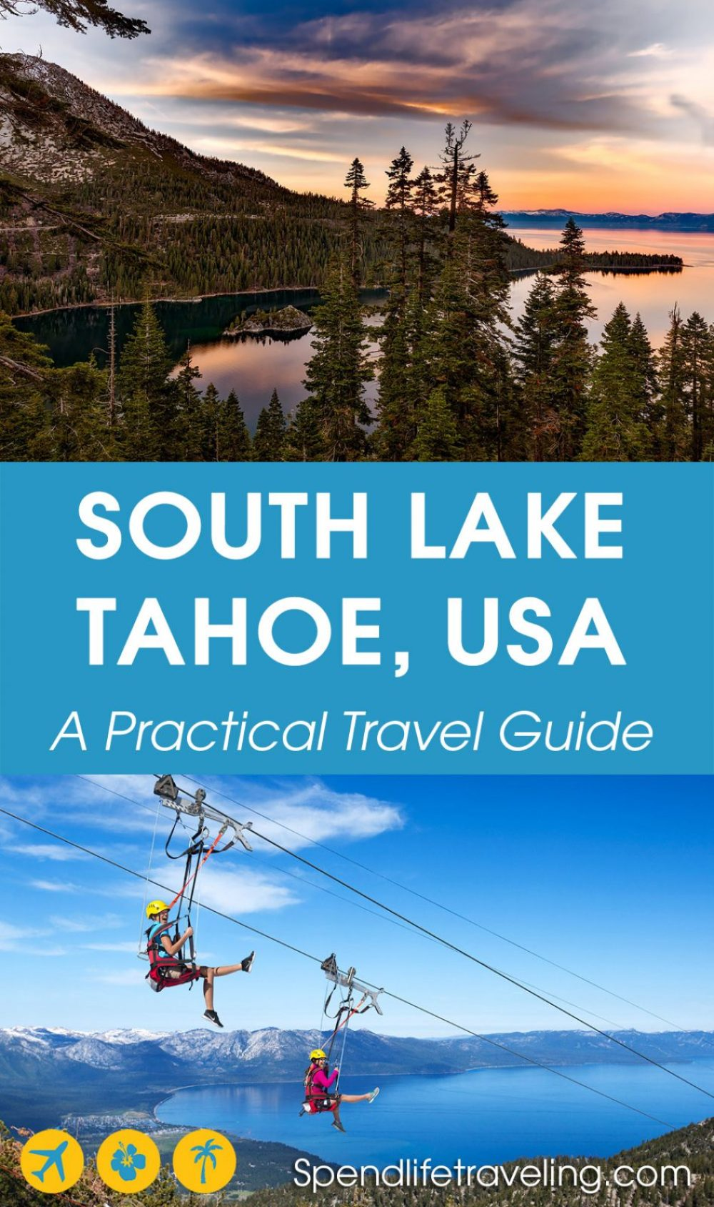 South Lake Tahoe is Lake Tahoe's most popular town. It is perfect for a short trip any time of year. Check out what to do, where to eat & drink and where to stay. #southlaketahoe #laketahoe #tahoe #travelguide #mountainlake