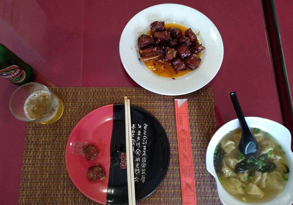 Authentic Chinese food in Valencia - The ribs at Chang Fu
