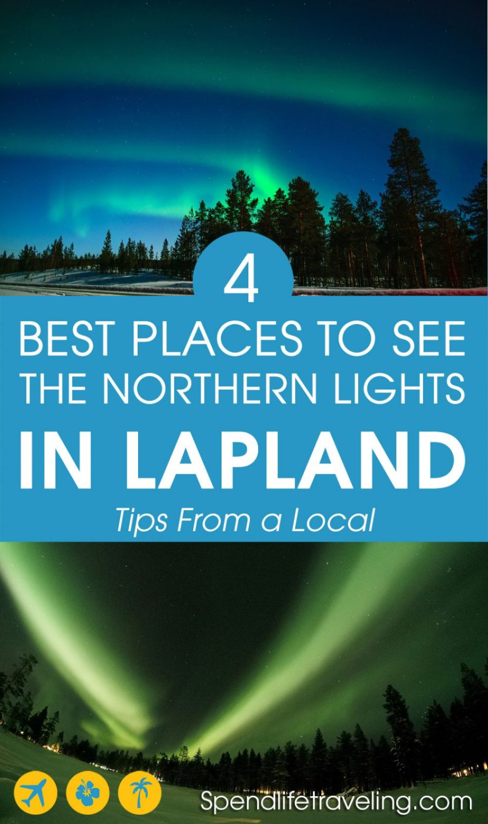 4 Of the best places to see the northern lights (aurora borealis) in Finnish Lapland. Plus extra tips for when and how best to see the northern lights. #northernlights #lapland #finland #auroraborealis #traveltip