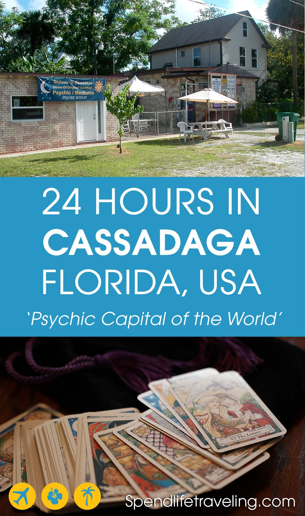 #Cassadaga is known as the psychic capital of the world. And that makes it a very unique place to visit! Check out what to see & do in this small community with a surprisingly rich history... #uniquedestinations #strangeplacestovisit #spirituality #Florida #darktourism