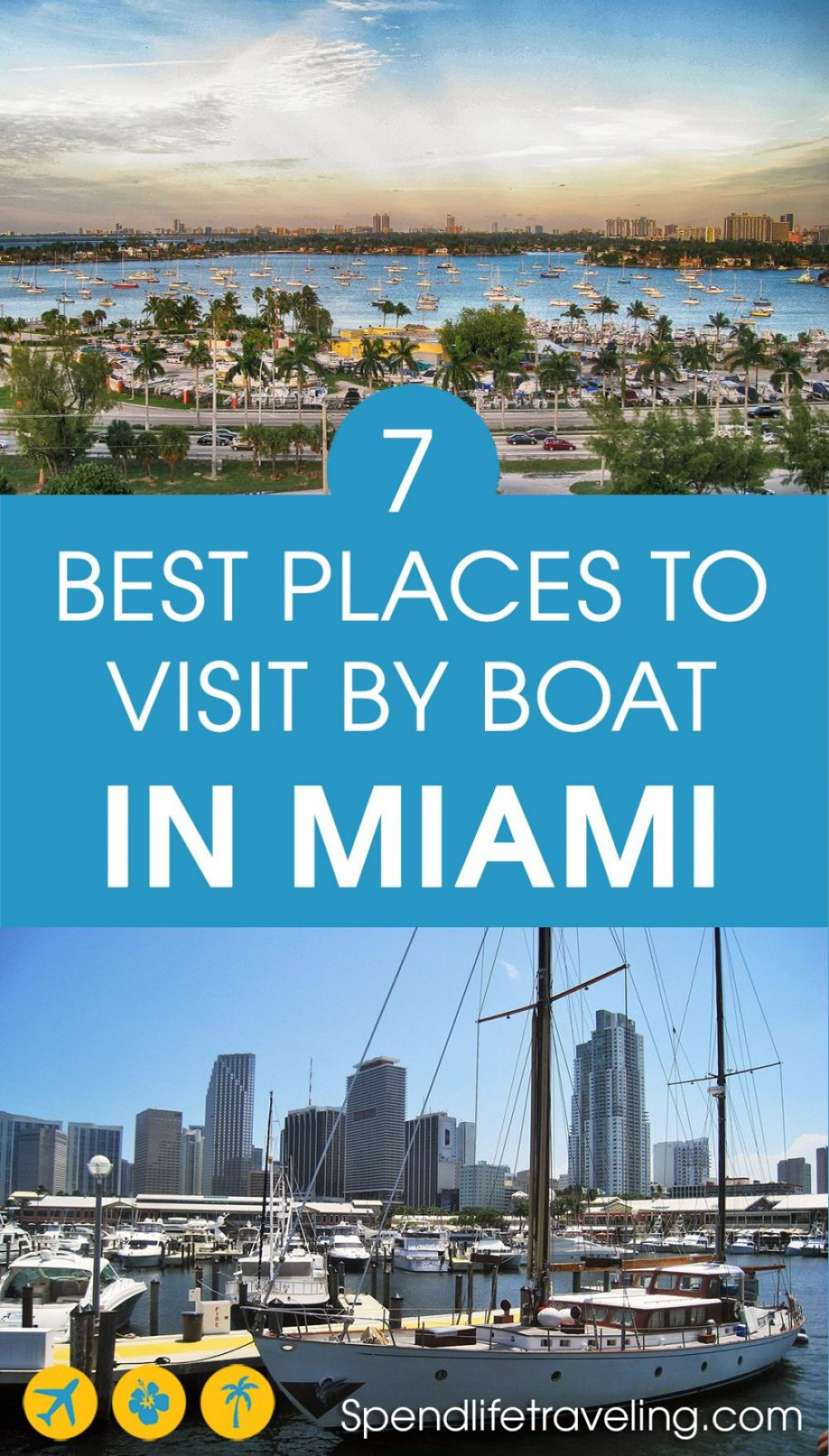 Looking for good boating spots in #Miami? Check out this list with places that are great to visit by boat. #boating #rentaboat #travelbyboat #visitMiami