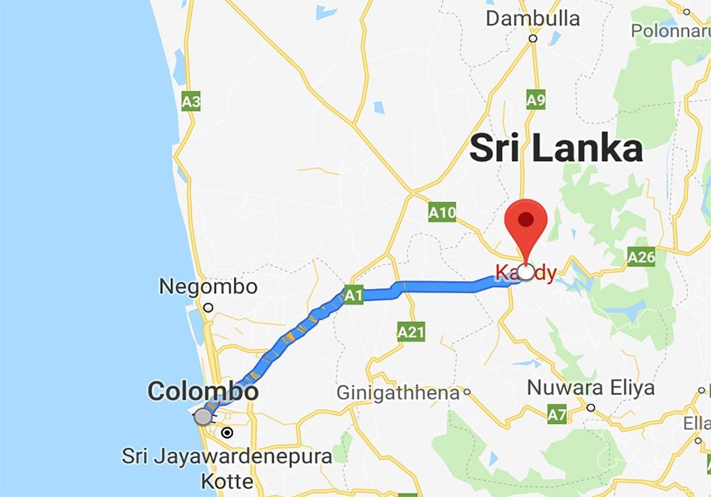 Use Google Maps when driving in Sri Lanka