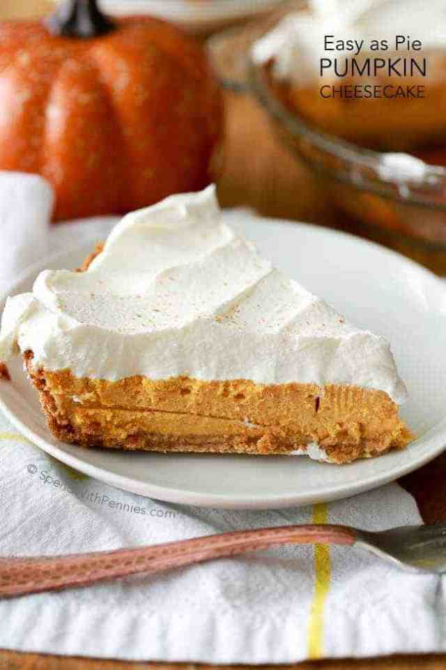 A Rich And Creamy Baked Pumpkin Cheesecake With Warm Fall Es Whipped Topping