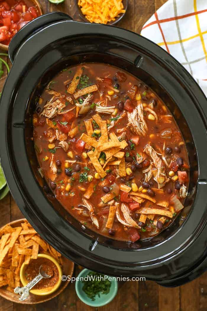 Crockpot Tortilla Soup | Slow cooker dinner ideas