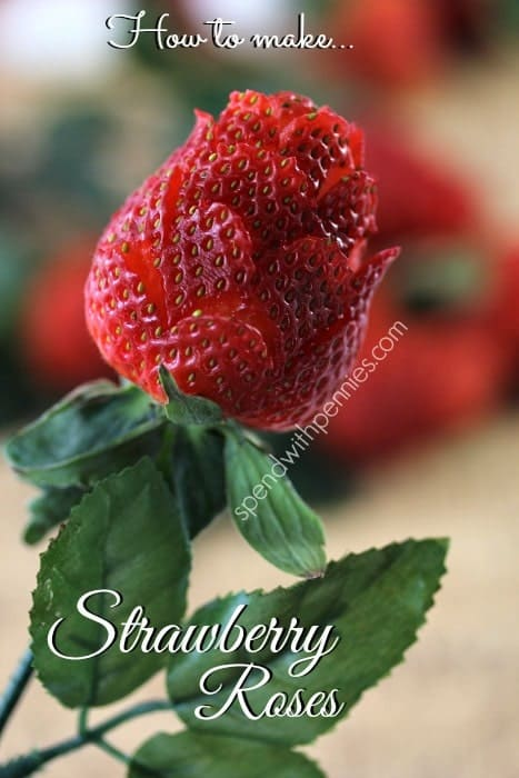How To Make Strawberry Roses Spend With Pennies