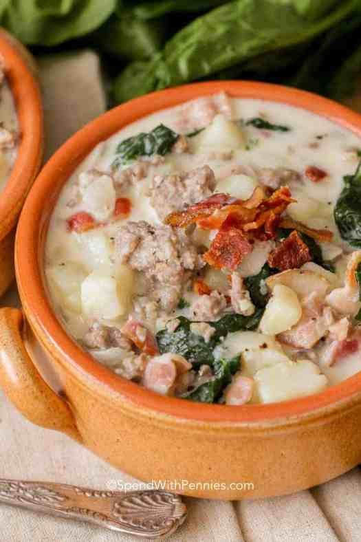 Creamy Zuppa Toscana in a bowl