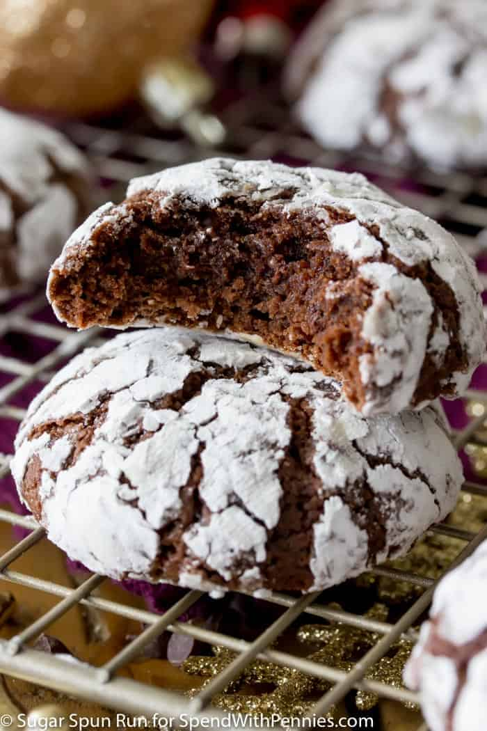 Chocolate Crinkle Cookies Spend With Pennies