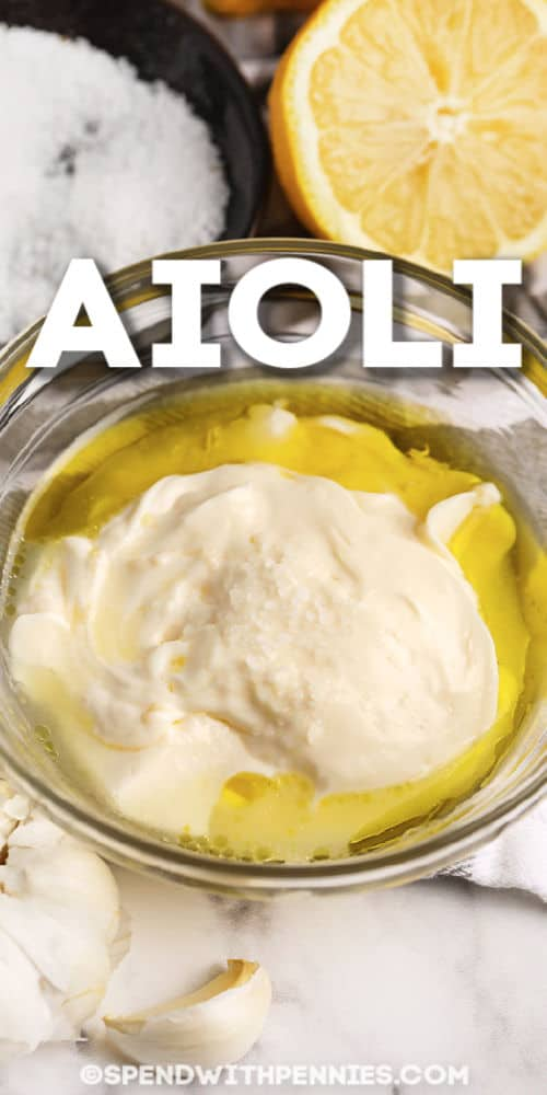 Aioli with text