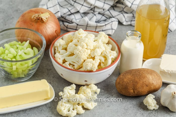 ingredients to make Easy Cauliflower Soup