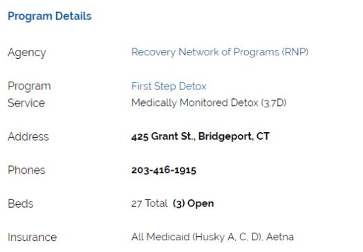 CT Addiction Services details image