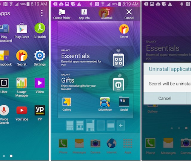 Samsung Galaxy Note  Android Lollipop