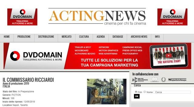 Il Commissario Ricciardi Fiction Rai Acting News