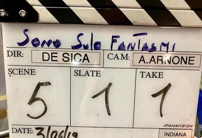 Sono solo Fantasmi Christian De Sica dà il via alle riprese «Oggi comincia il nostro film»