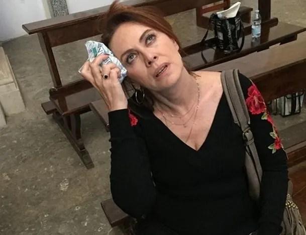 Vivi e lascia Vivere Elena Sofia Ricci sul set, trama e foto dalle riprese