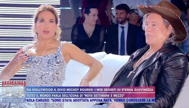 Mickey Rourke torna in Italia in esclusiva a Live – Non è la
