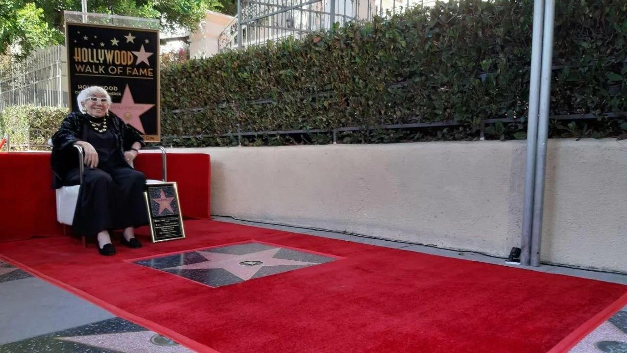 Lina Wertmuller la stella sulla Walk of Fame che rappresenta l'Italia