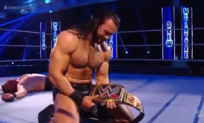 Wrestlemania 36 risultati seconda serata, Drew McIntyre batte Brock Lesnar, The Fiend umilia John Cena, Edge distrugge Orton