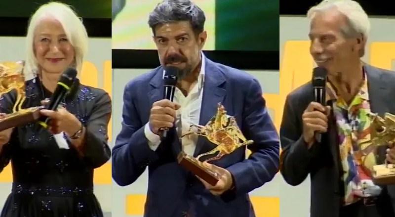 Premi Flaiano 2020 i vincitori premiati a Pescara, da Pierfrancesco Favino a Helen Mirren FOTO e VIDEO