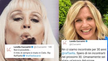 Lorella Cuccarini replica a chi ha criticato il suo ultimo messaggio a Raffaella Carrà