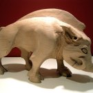 Dores Pictish boar carved 'in the round' from oak