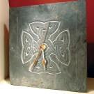 Celtic knotwork cross slate clock
