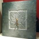 Celtic knotwork carved slate clock