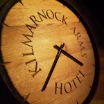Whisky barrel carved clock