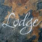 Cedar Lodge slate carved house sign