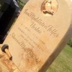 Memorial to a mason sandstone