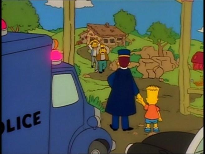 Bart Simpson presencia la detención de sus maltratadores