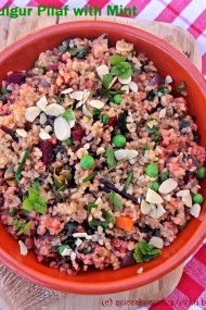 Bulgur or Cracked Wheat Pilaf