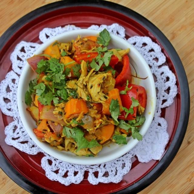 Chicken Bharta or Jhalferazi