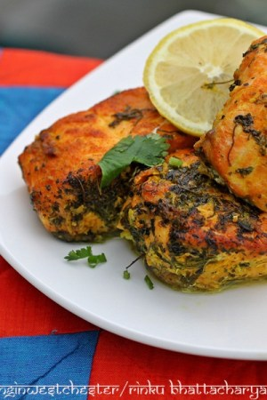 Pan Cooked Salmon with Fenugreek