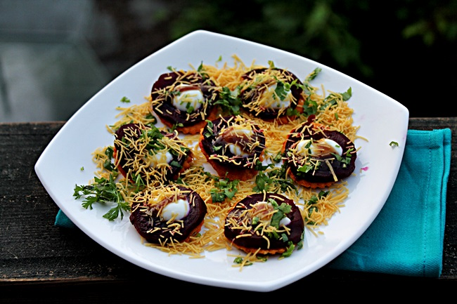 Image result for beetroot and potato chaat