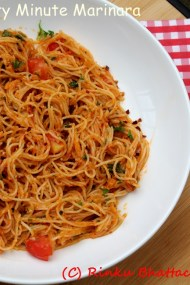 Twenty Minute Marinara with Angel Hair Pasta