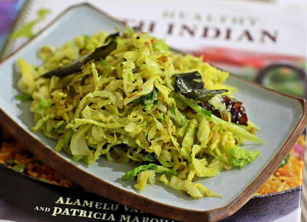 Cabbage poriyal from healthy south indian cooking pes that i have enjoyed from the lovely cookbook healthy south indian cooking forumfinder Choice Image
